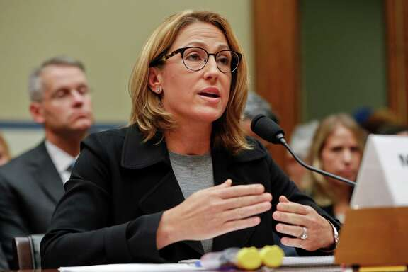 FILE - In this Sept. 21, 2016 file photo, Mylan CEO Heather Bresch testifies on Capitol Hill in Washington. Lawmakers are venting outrage these days over high prescription drug costs, but if Congress is looking for culprits, it may want to look in the mirror. Republican and Democratic-controlled Congresses, and presidents of both parties, may have set the stage for the startling prices that now have consumers on edge.  (AP Photo/Pablo Martinez Monsivais, File)