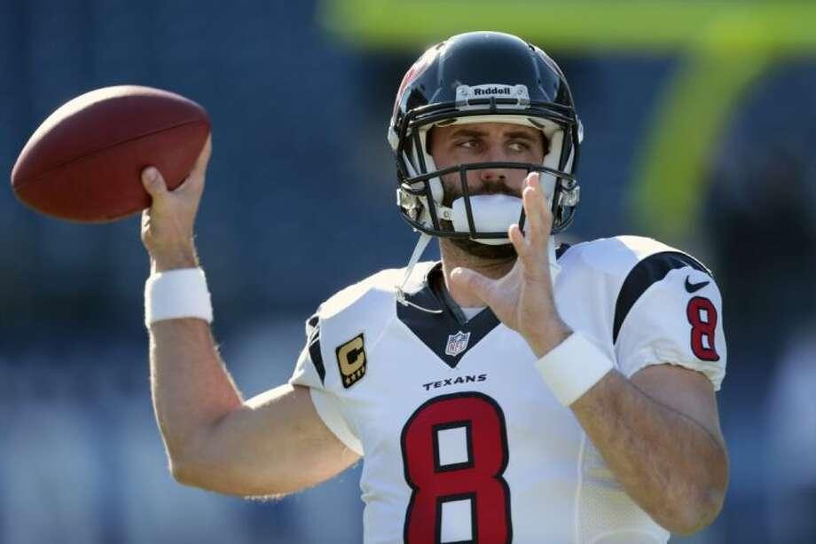 The Houston Texans traded veteran quarterback Matt Schaub to the Oakland Raiders on Friday. Photo: Wade Payne