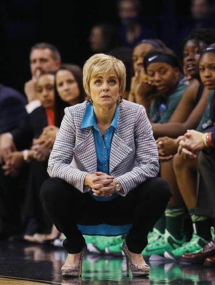 Baylor coach Kim Mulkey coached her team to a 33-4 season. Photo: Sue Ogrocki