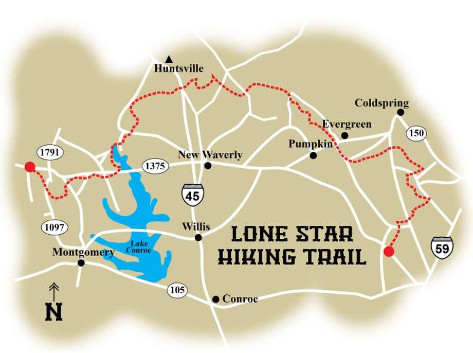 The 129-mile Lone Star Hiking Trail