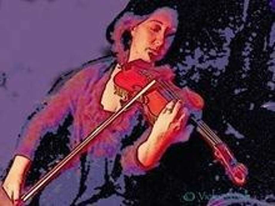 """A photo of a digital painting by Vickie Nash, titled """"Belle des la Violin."""" This was one of the first-place winners in the March 7 CAL competition and will be part of a new exhibit which goes on display at the Gallery at the Madeley Building beginning April 8."""