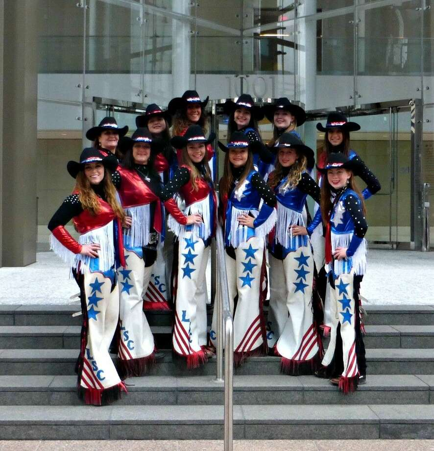 The Lone Star Cowgirls pose for a photo. The group, which started in 2006 and has 10 members ranging from ages 15-55, features pre-rodeo entertainment and will be a part of the opening of the rodeo on Friday and Saturday nights at the Montgomery County Fair April 10 and 11.