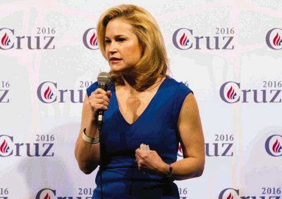 Heidi Cruz, wife of Republican presidential candidate Ted Cruz, speaks during a visit to The Woodlands Bible Church Saturday. Cruz spoke to the gathering of more than 300 people about life on the campaign trail, her husband's character and vision for the country. Photo: Jason Fochtman