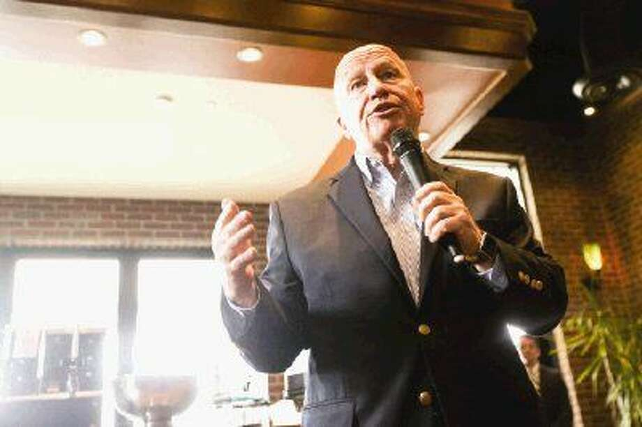 U.S. Rep. Kevin Brady, R-The Woodlands, speaks during a meet and greet Monday at Black Walnut Cafe in The Woodlands.