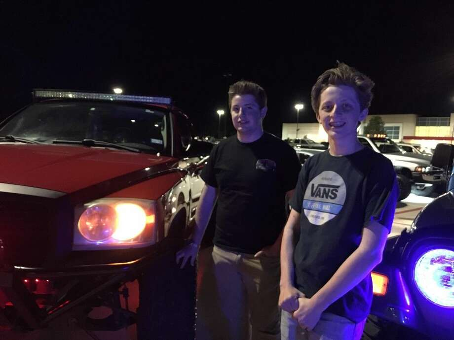 Cameron Smith,17, and his brother Landon Smith, 16, held a car club meet at the JC Penney's Parking Lot in Conroe on Thursday night. The two will host a car show in Willis on Saturday.