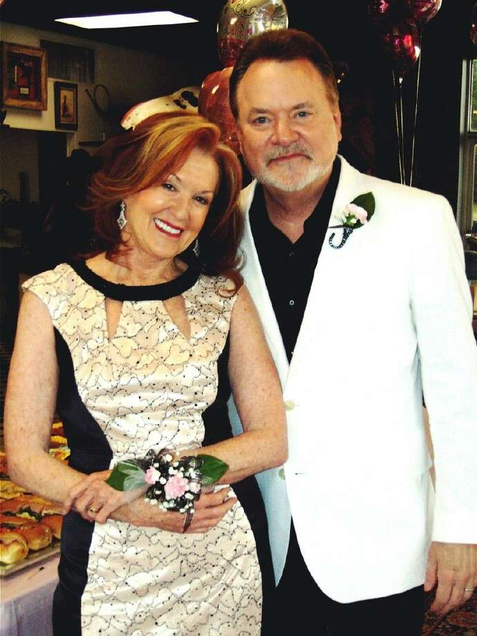 Conroe City Councilman Guy Martin, right, and wife, Sandy, celebrated Sandy's Leap Day birthday in style Monday at a party hosted by Sandy Flynn and Lyn Howard.