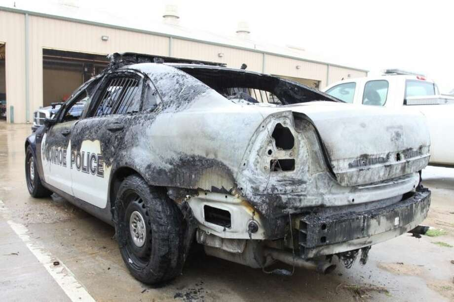 The 2012 Chevrolet Caprice Conroe Police Department patrol car is a total loss after it burned Wednesday afternoon. No one was injured and the cause of the fire is unknown.