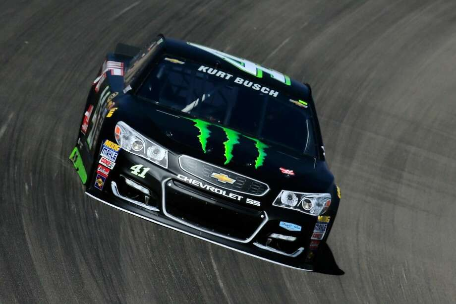 Kurt Busch drives during practice for the NASCAR Sprint Cup Series Kobalt 400 at Las Vegas Motor Speedway. Photo: Chris Trotman