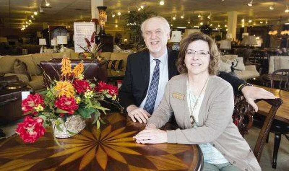 Chris and Linda Pfeiffer, owners of Homestead House Distinctive Home Furnishings, have been in business in downtown Conroe for the past three years. Photo: Jason Fochtman