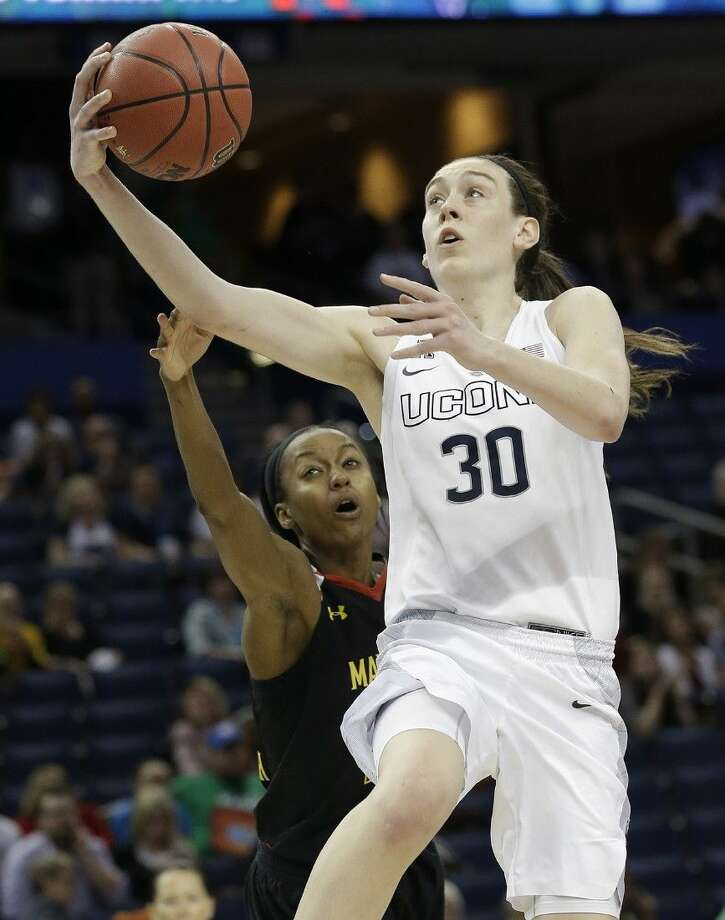 Connecticut forward Breanna Stewart has led her team to another NCAA title game. Photo: John Raoux
