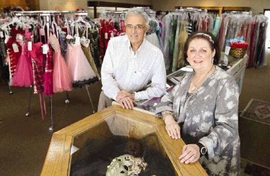 After 20 years in business, John and Shirley Hunter will be closing shop at Affinity & The Tux Shop, located at 25534 Interstate 45 N. The pair first took over the store 19 years ago and have become a mainstay in the community for tuxedos, prom dresses, ladies evening wear, accessories and other fashion items. The two cited health concerns over the close, which is targeted for May 3.