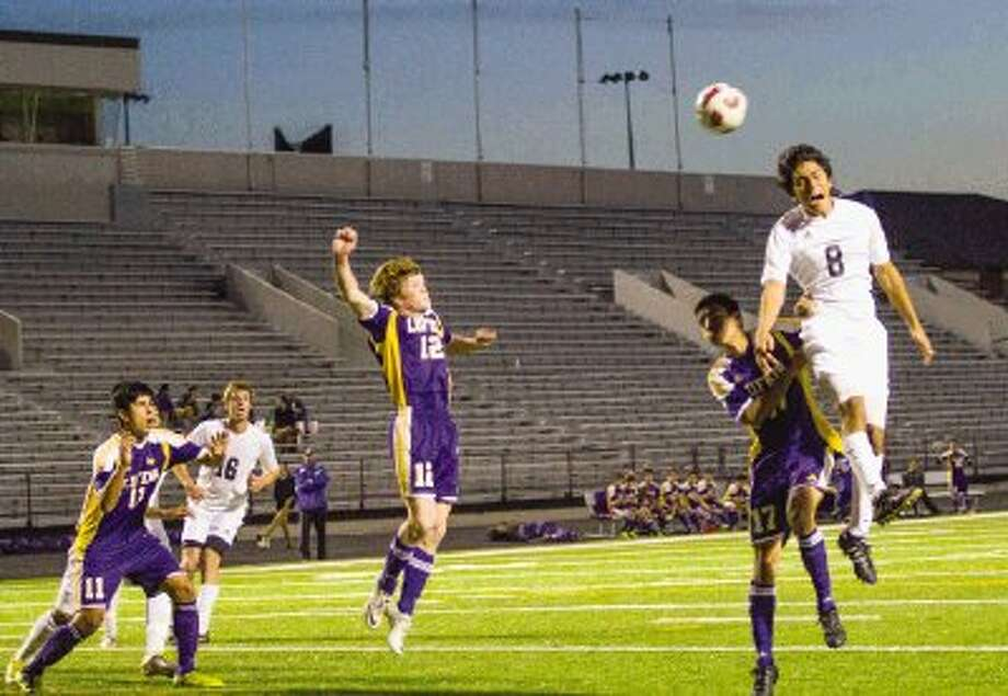 Conroe's Ivan Adame (8), here playing against Lufkin, had an assist in the Tigers' 2-1 playoff victory over Kingwood on Thursday night. Photo: Staff Photo By Ana Ramirez / The Conroe Courier