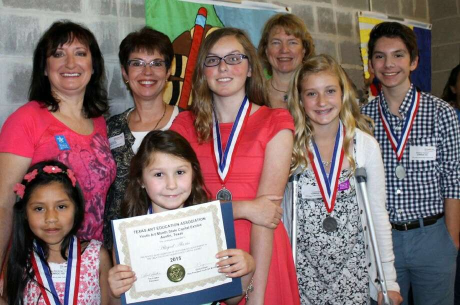 Five Conroe ISD students were honored by the Texas Art Education Association on March 22 in Austin. Their pieces are then displayed at the Bob Bullock State History Museum and the State Capitol Building. The students are Abigail Alanis (second grade), Reaves Elementary; Brandon Foskett (eighth grade), Irons Junior High; Lauren Cole (eighth grade), McCullough Junior High; Maritza Balderas Cruz (second grade), Austin Elementary; and Paris Couch (seventh grade), McCullough Junior High.