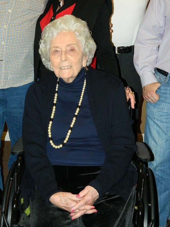 """Mary """"Verbie"""" Bryan turned 100 on Feb. 20. The resident of Strake Place Senior Living celebrated with family, staff and residents of Strake Place with a party in her honor."""
