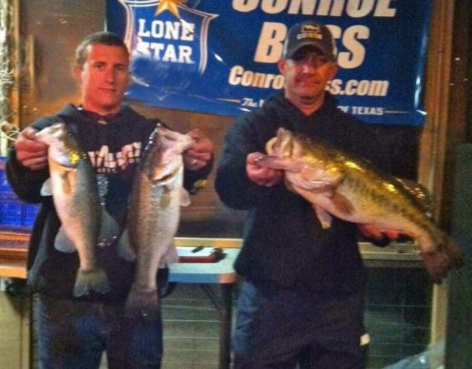 Justin Buller and Wesley Johnson won the Conroe Bass Tuesday Night Tournament on March 25 with a three-fish limit that weighed 12.48 pounds.
