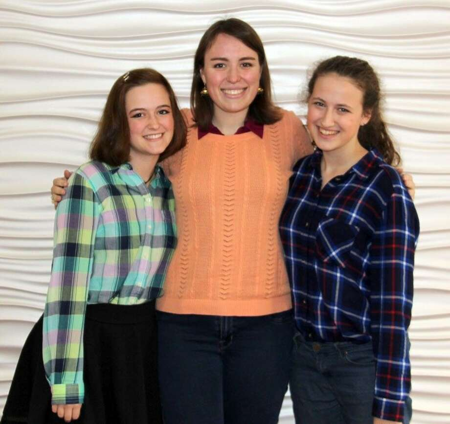Pictured are the Gold Key Writers from John Cooper School from left, Sadie Robb, Meredith Brus, Claire Cromley.