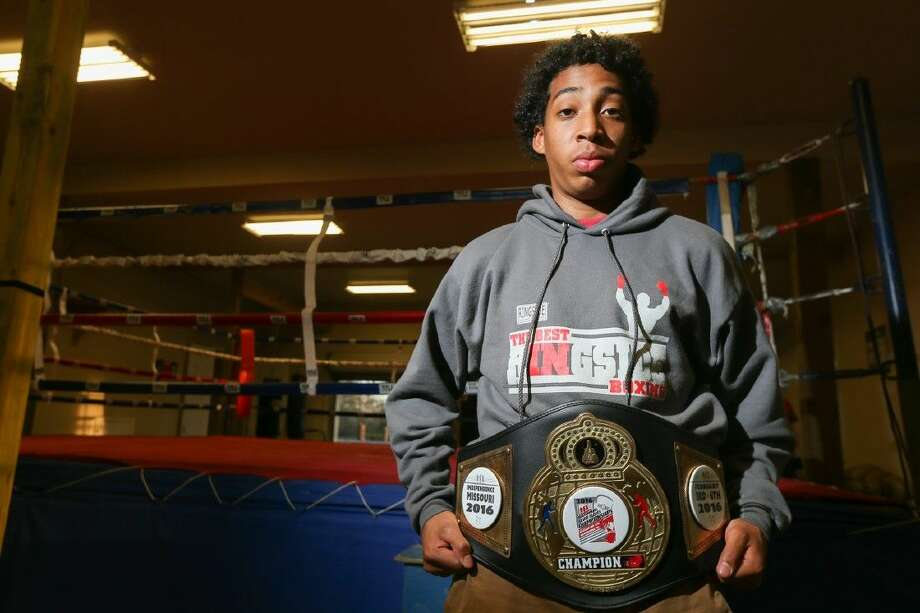 David Ramos, 13-year-old Brabham Middle School student, began boxing in January 2015 and is now the 139 lbs. weight class 2016 National Silver Gloves Champion. Ramos is pictured on Friday, March 4, 2016, at Lane's Boxing and Fitness. Photo: Michael Minasi