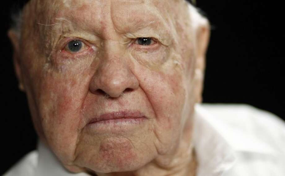 In this Thursday, May 19, 2011, file photo, actor Mickey Rooney poses during a portrait session in Los Angeles. Rooney, a Hollywood legend whose career spanned more than 80 years, has died. He was 93. Los Angeles Police Commander Andrew Smith said that Rooney was with his family when he died Sunday, April 6, 2014, at his North Hollywood home. Photo: Matt Sayles