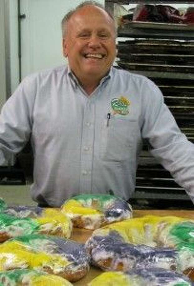 Jake Tortorice, the owner, ships the bakery's popular king cakes nationwide during Mardi Gras.