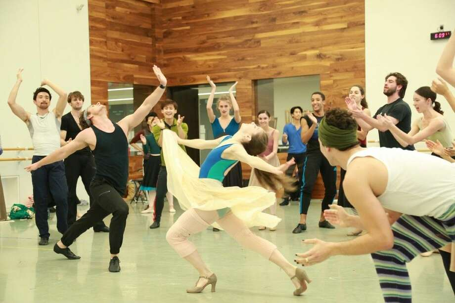 The Houston Ballet rehearses West Side Story Suite which is part of its Winter Mixed Repertory Program running March 10-20.