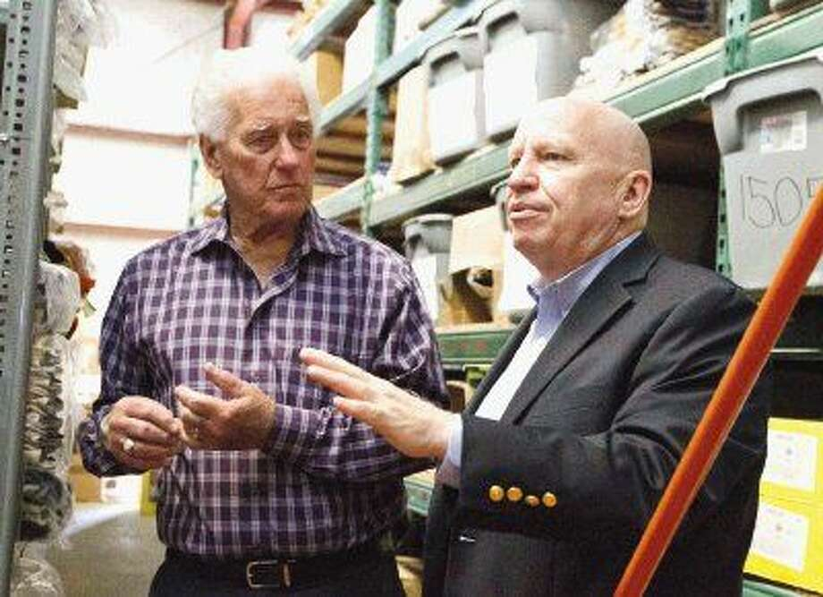 """Congressman Kevin Brady takes a tour of Conroe Welding Supply with owner Roy Morton. Brady's so-called """"Death Tax Repeal"""" bill passed the House on Thursday. Photo: Jason Fochtman"""