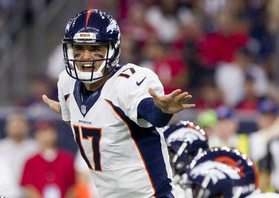 Former Denver Broncos quarterback Brock Osweiler signed with the Houston Texans Wednesday, according to multiple NFL media reports. Photo: Jason Fochtman