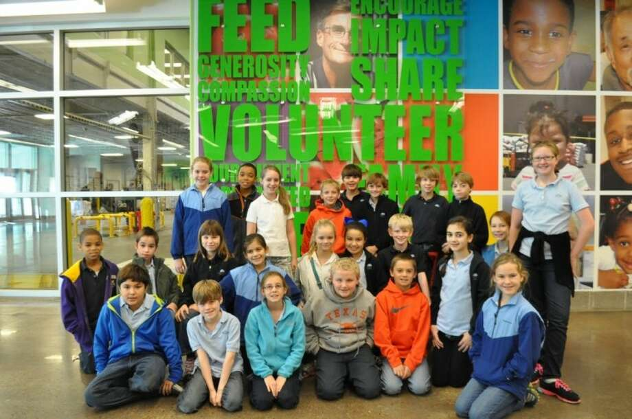 Presbyterian School fifth-grade students served at the Houston Food Bank during the school's Annual Day of Service. Photo: Submitted