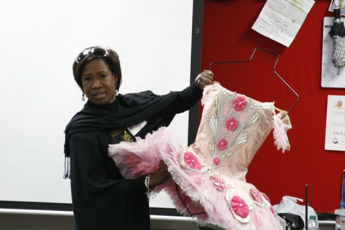 Lauren Anderson with the Houston Ballet discusses her career as a principal dancer with the company during Woodcreek Middle School's Career Day Dec. 20.