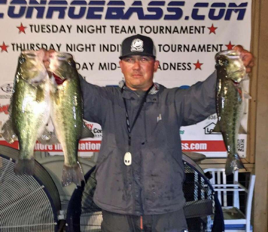 Lamar Ward came in third place with a total stringer weight of 9.64 pounds in the CONROEBASS Tuesday tournament.