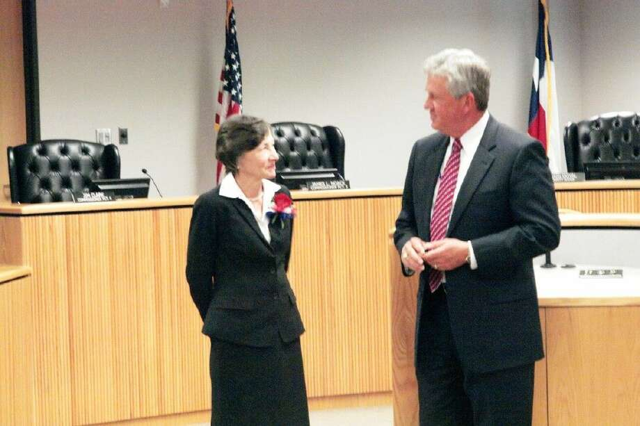 Precinct 3 Justice of the Peace Edie Connelly was recognized Tuesday by Montgomery County Judge Craig Doyal for more than 35 years of service in the county.