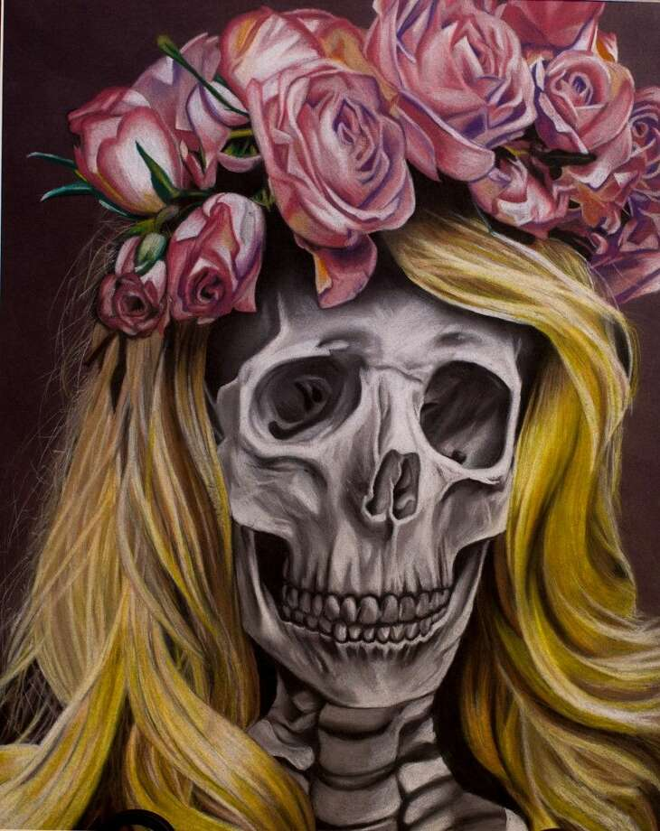 "A pastel painting titled, ""Lara Skull Rey,"" by Alanis Martinez of Magnolia West High School, which won Best of Show at the April 25 CAL Student Scholarship competition. Photo: Wyn Photography"