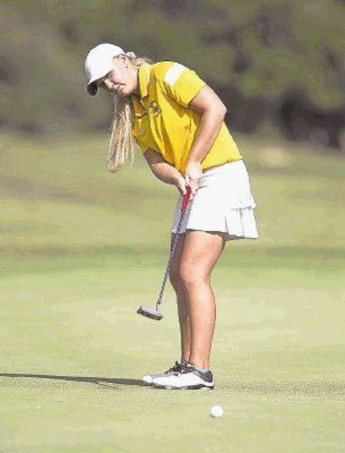 Montgomery's Hailee Cooper is the Class 6A state golf champion. Photo: Jason Fochtman