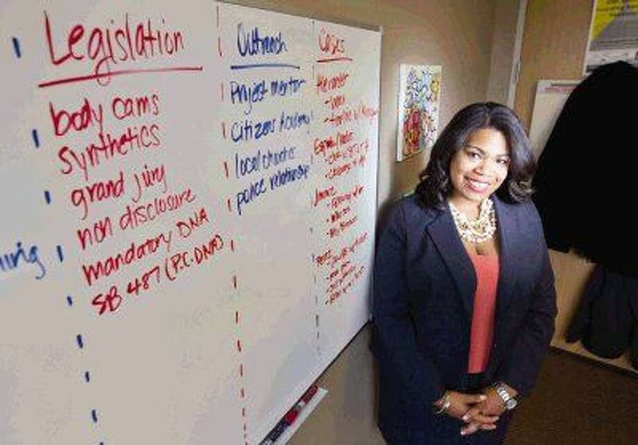 Assistant District Attorney Tiana Sanford became the first black district court chief prosecutor in Montgomery County when she was appointed to the newly created position in November. Sanford also serves as the office's first legislative liaison, acting as a consultant for state lawmakers regarding criminal justice issues during the legislative session. Photo: Jason Fochtman