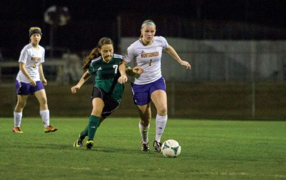 Montgomery senior Madison Naessig notched six goals and seven assists in 10 District 39-4A matches. Photo: Staff Photo By Ana Ramirez
