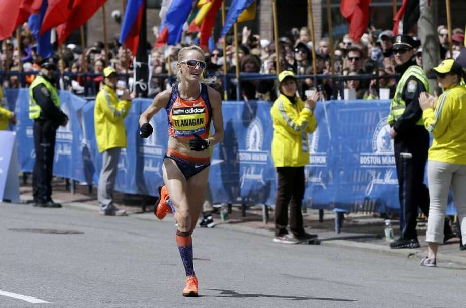 Shalane Flanagan finished fourth in the Boston Marathon on April 15, 2013. The Marblehead, Mass., native hopes to become the first American winner since 1985. Photo: Elise Amendola