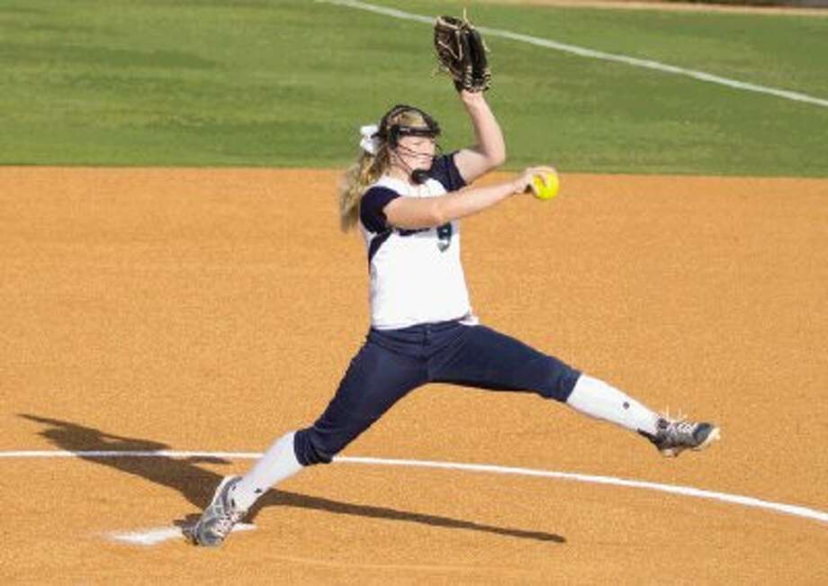 College Park's Peyton Hutchens` pitches the ball during a softball game against Bryan in Montgomery Monday. College Park won 6-4 and took the district's final playoff spot. To view or purchase this photo and others like it, visit HCNpics.com. / The Conroe Courier