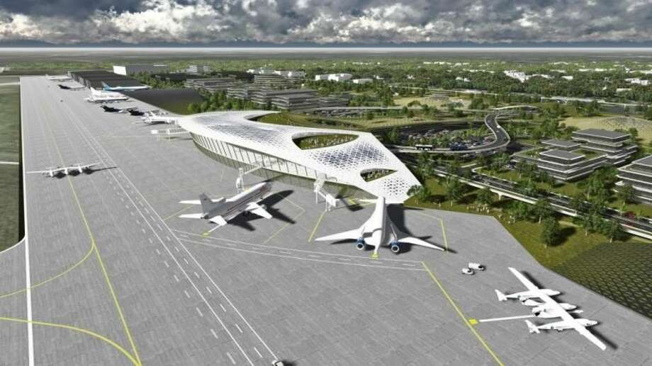 An artist's rendering of the vision for the Houston Spaceport at Ellington Airport. Photo: SUBMITTED PHOTO