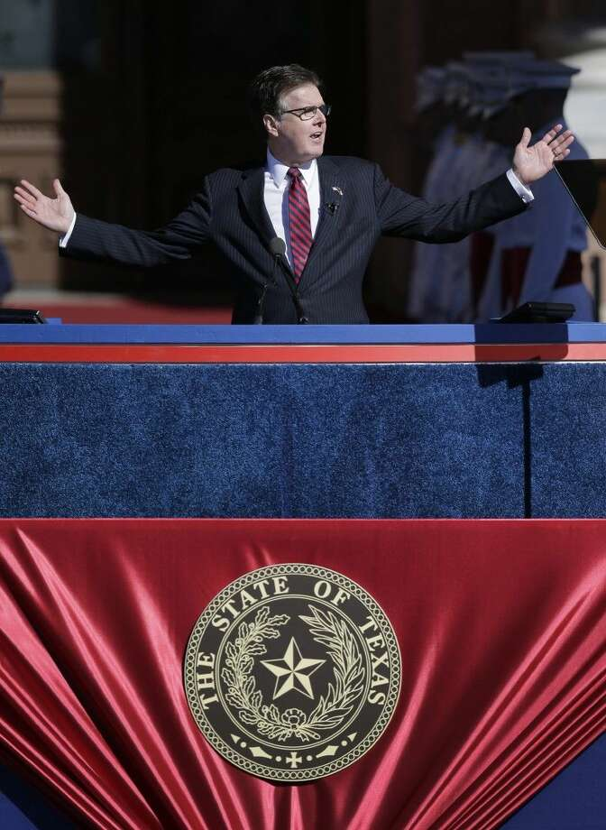 Texas Lt. Gov. Dan Patrick speaks after he was sworn into office Tuesday in Austin. Photo: Eric Gay