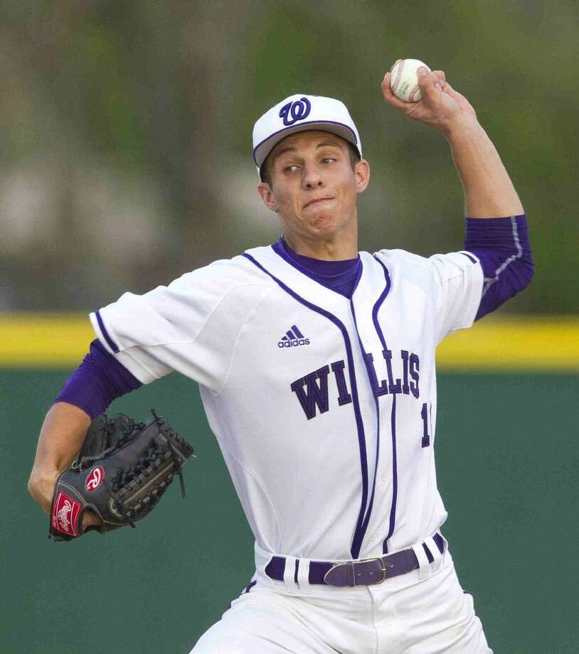 Willis pitcher Kyle Novak throws during the first inning of a District 18-5A baseball game against Bryan-Rudder Tuesday. Go to HCNpics.com to purchase this photo and others like it. Photo: Jason Fochtman
