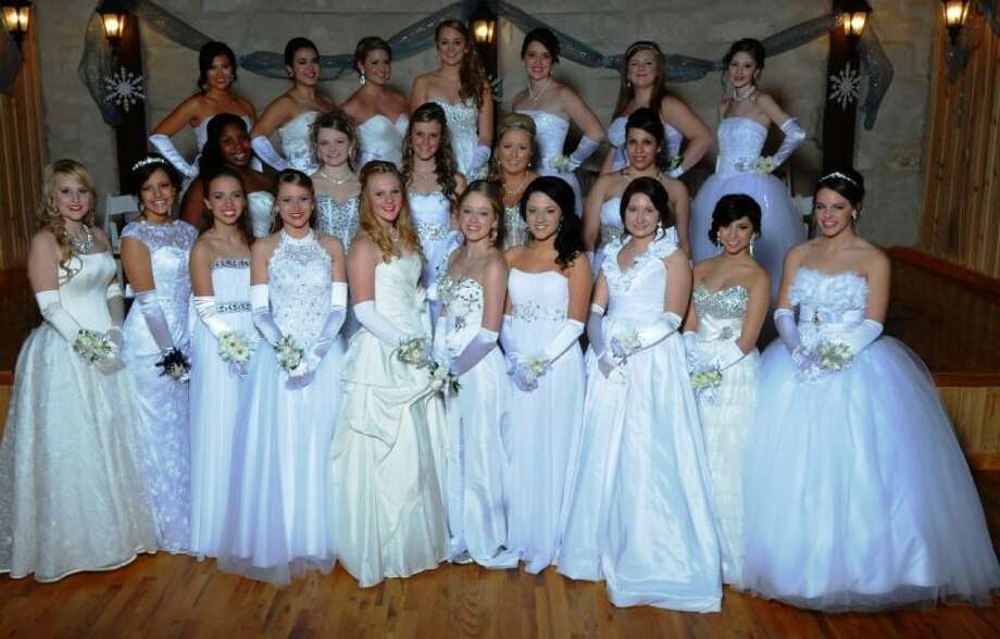 Pictured at the Conroe Junior Cotillion Winter Ball this year are: Top row: Lynn Mendoza, Krystyna Garcia, Drew Glover, Aubrey Harrison, Hunter Berry, Lauran Bass and Katie Fagin. Middle row: Morgan Fields, Katie Hayes, Kaylae Walton, Bailey Sistrunk, and Kat Shadel. Bottom row: Tiffany Loggins, Denise Garcia, Quinn Burns, Andrea Heape, Sarah Odom, Kayla Letien, Carly Jackson, Keely Cobbler, Gloria Barreiro, and Chandler Dawson.