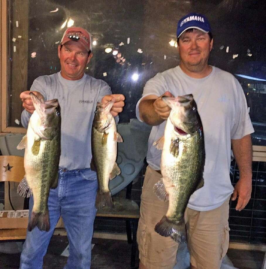 Darwin Ballard and Keith Phillips came in second place in the CONROEBASS Tuesday tournament with a total stringer weight of 15.33 pounds.