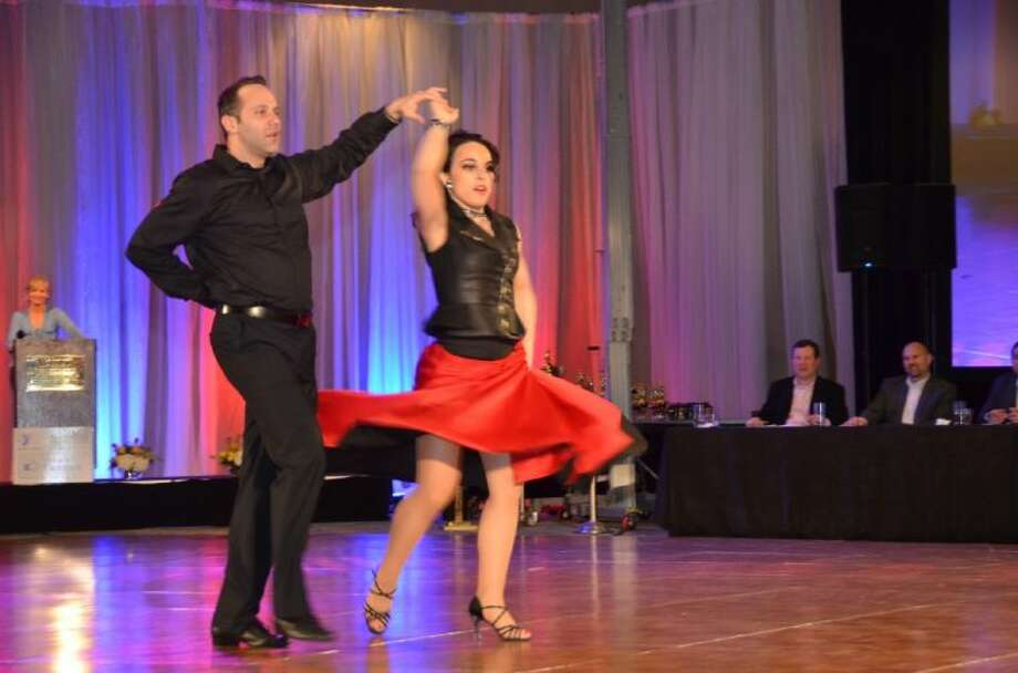 Micah Garrison and partner Patricia Rochester were the winners in the Second Annual YMCA Dancing for a CAUSE on April 10.