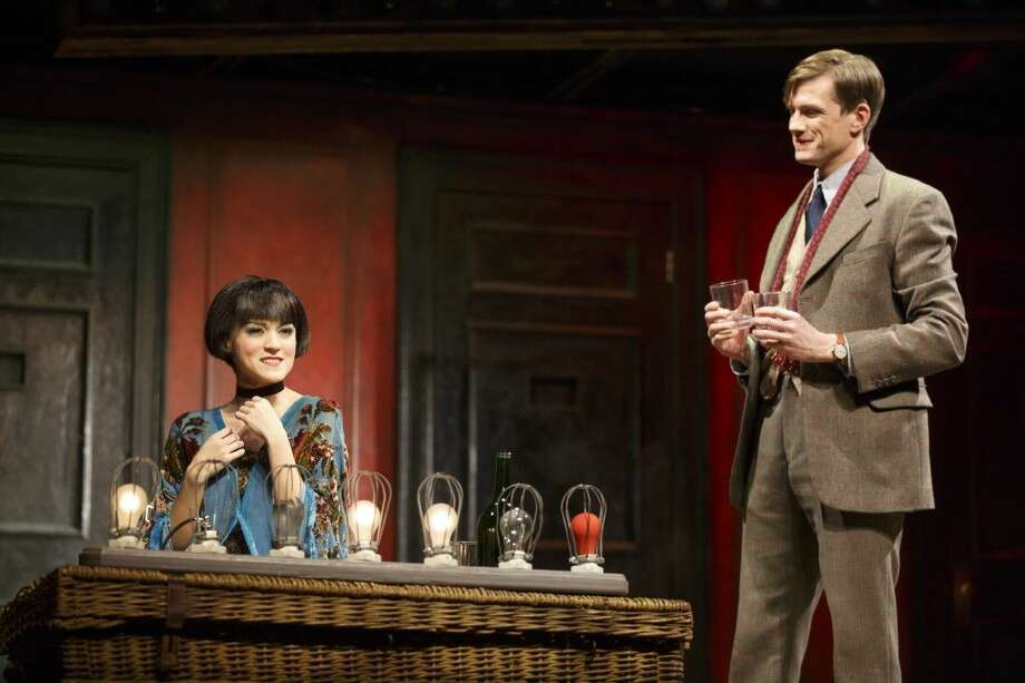 """Andrea Goss as Sally Bowles and Lee Aaron Rosen as Clifford Bradshaw in the 2016 National Touring production of Roundabout Theatre Company's """"Cabaret."""" Photo: Joan Marcus"""