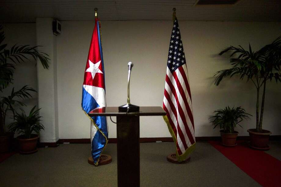 Presidents Barack Obama and Raul Castro will meet Friday at a regional summit in Panama. Photo: Ramon Espinosa