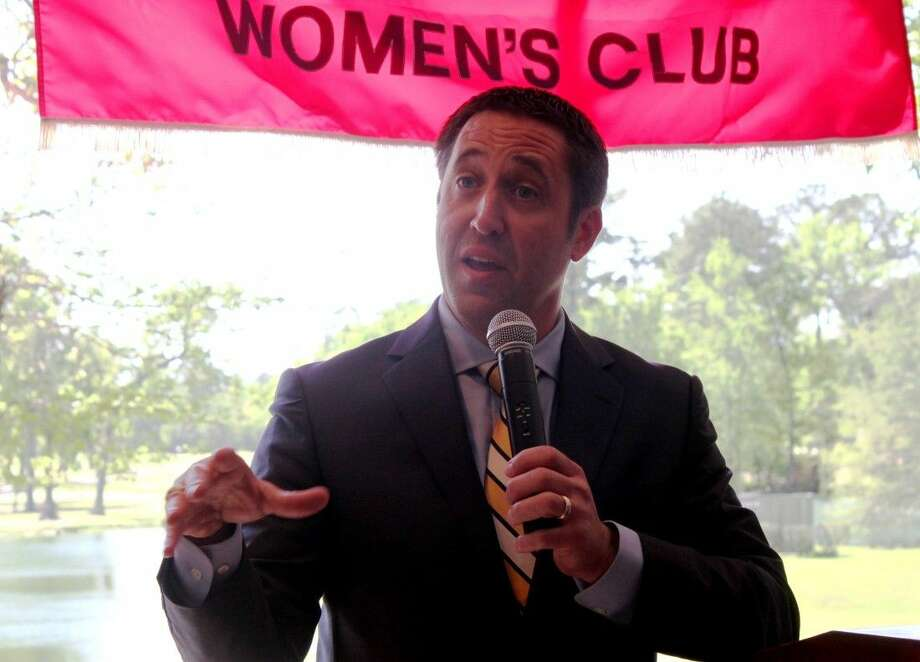 The 33rd Texas Comptroller of Public Accounts Glenn Hegar spoke to the Montgomery County Republican Women on Thursday during the general meeting at the River Plantation Country Club in Conroe.