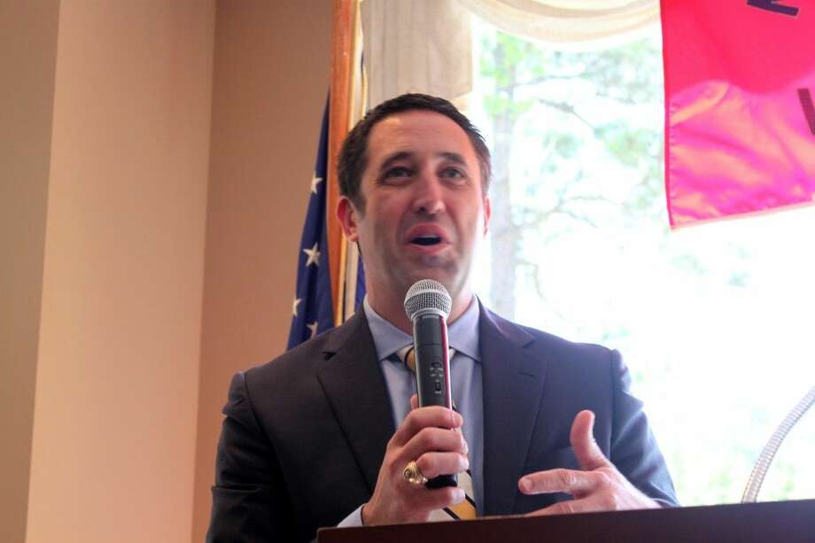 The 33rd Texas Comptroller of Public Accounts , Glenn Hegar spoke to the Montgomery County Republican Women about unclaimed property in Texas during the general meeting at the River Plantation Country Club in Conroe on Thursday .