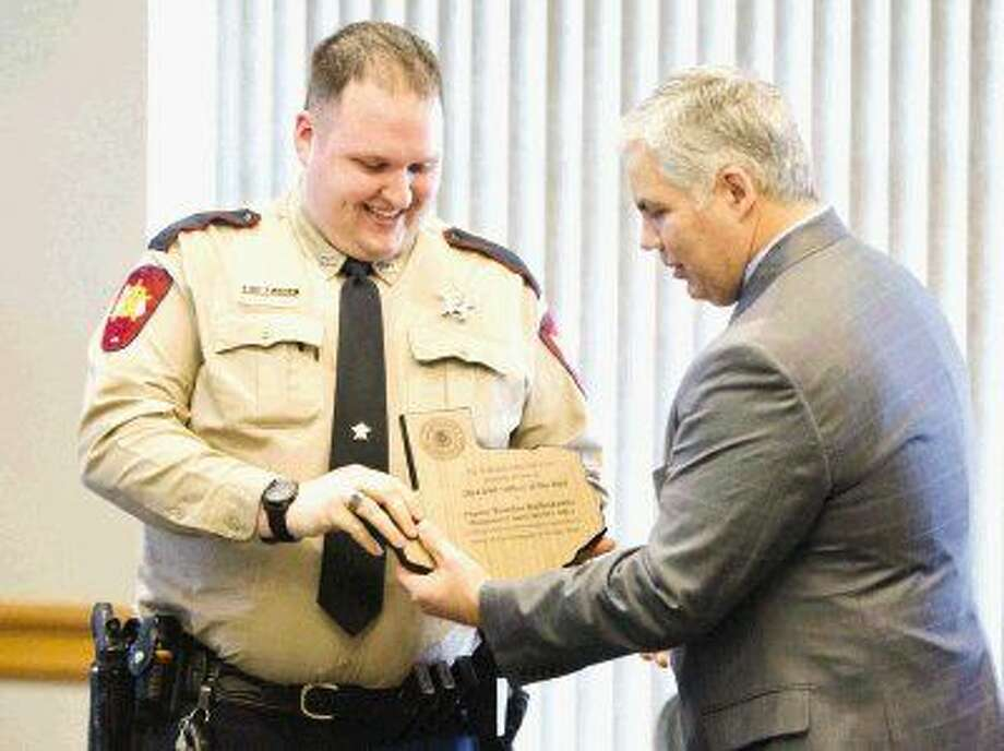 Montgomery County Sheriff's Office Deputy Brandon Bartoskewitz was honored with the DWI Officer of the Year award Wednesday.