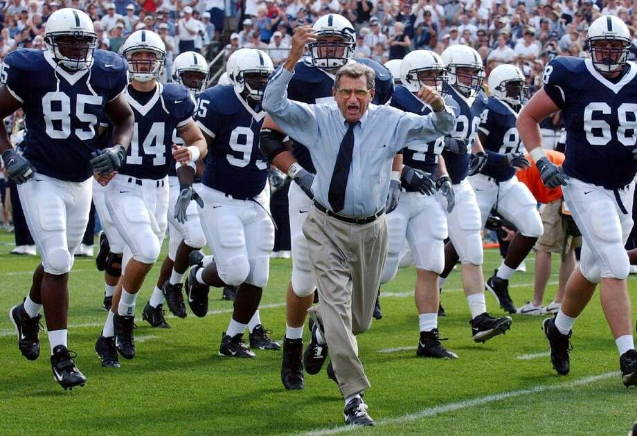 The NCAA announced Friday that Penn State and former coach Joe Paterno will have 112 wins reinstated after an earlier sanction stripped them away. Photo: Carolyn Kaster