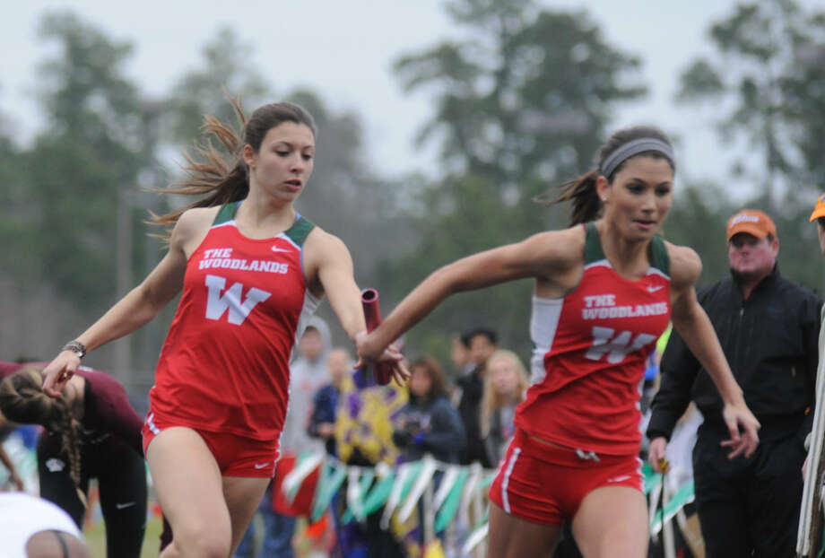 The Woodlands' girls 4x200-meter relay team has the top mark in the county. Photo: Keith MacPherson