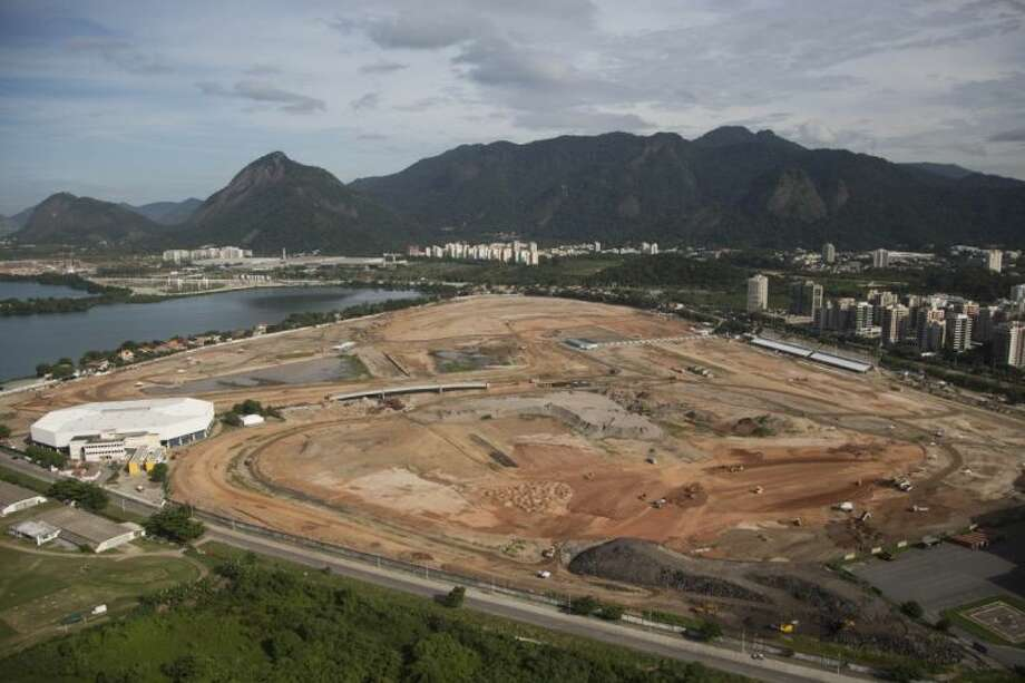 Olympic Park, which will host competitions for 10 sports at Rio's games in 2016, is pictured under construction on April 11, 2013, in the area previously occupied by the Jacarepagua Autodrome in Rio de Janeiro, Brazil. Photo: Felipe Dana